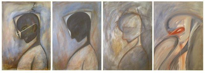 Acrylmalerei, Kopf, Malerei, Denker