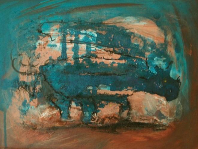 Acrylmalerei, Steinzeit, Malerei