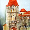 Architektur, Kloster, Acrylmalerei, Malerei