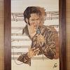 Marketerie, Messertechnik, Portrait, Elvis