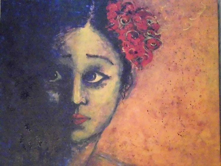 Materie, Acrylmalerei, Portrait, Lampenfieber, Malerei