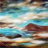 Türkis, Struktur, Berge, Wolken