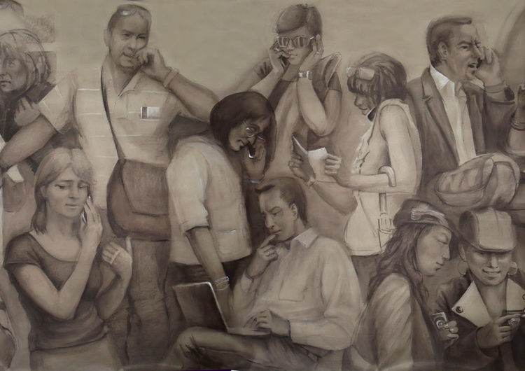 Raum, Portrait, Fragment, Malerei, Zeichnung, Interieur