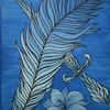 Fantasie, Blumen, Feder, Malerei