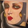 Gemälde, Lempicka, Hommage, Gesicht