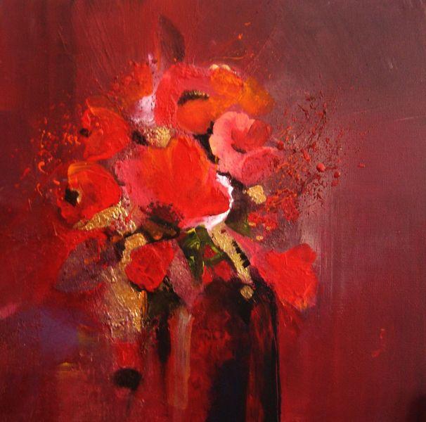 Blumen in rot annemohn