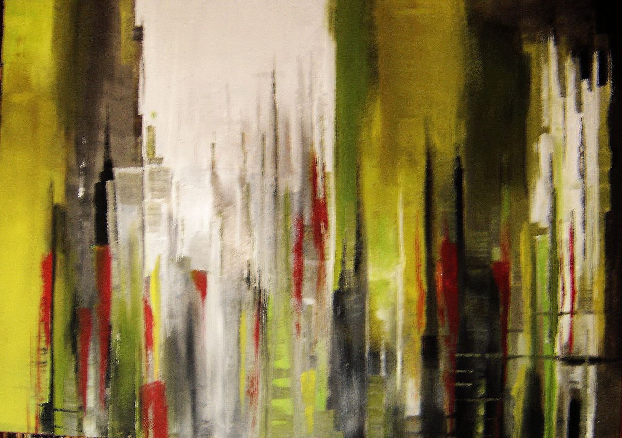 bild skyline abstrakt malerei new york von annemohn bei kunstnet. Black Bedroom Furniture Sets. Home Design Ideas