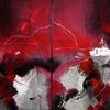 Acryl auf leinwand, Abstrakt, Rot, Malerei