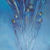 Menschen, Abstrakt, Blau, Acrylmalerei