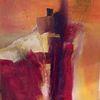 Rot, Abstrakt, Acrylmalerei, Malerei