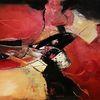 Abstrakt, Acrylmalerei, Rot, Malerei
