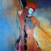 Acrylmalerei, Tanz, Rot, Malerei