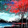Technik, Ölfarben, Spachtel, Malerei