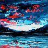 Ölmalerei, Spachteltechnik, Abstrakt, Malerei