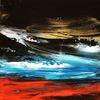Ölfarben, Spachteltechnik, Abstrakt, Malerei