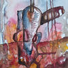 Improvisation, Abstrakt, Aquarellmalerei, Aquarell