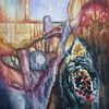 Abstrakt, Farben, Violett, Malerei