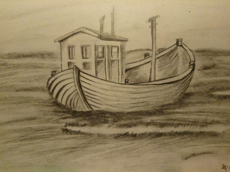 Boot, Meer, Wasser, Zeichnungen