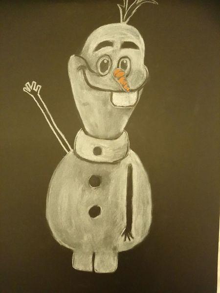 Weiß auf schwarz, Animation, Schneemann, Zeichnungen,