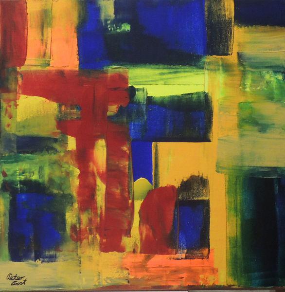 Peter post, Rakeltechnik, 5181, Abstrakte kunst, Acrylmalerei, Brt5181