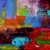 Abstrakte kunst, Rakeltechnik, Acrylmalerei, Strukturpaste