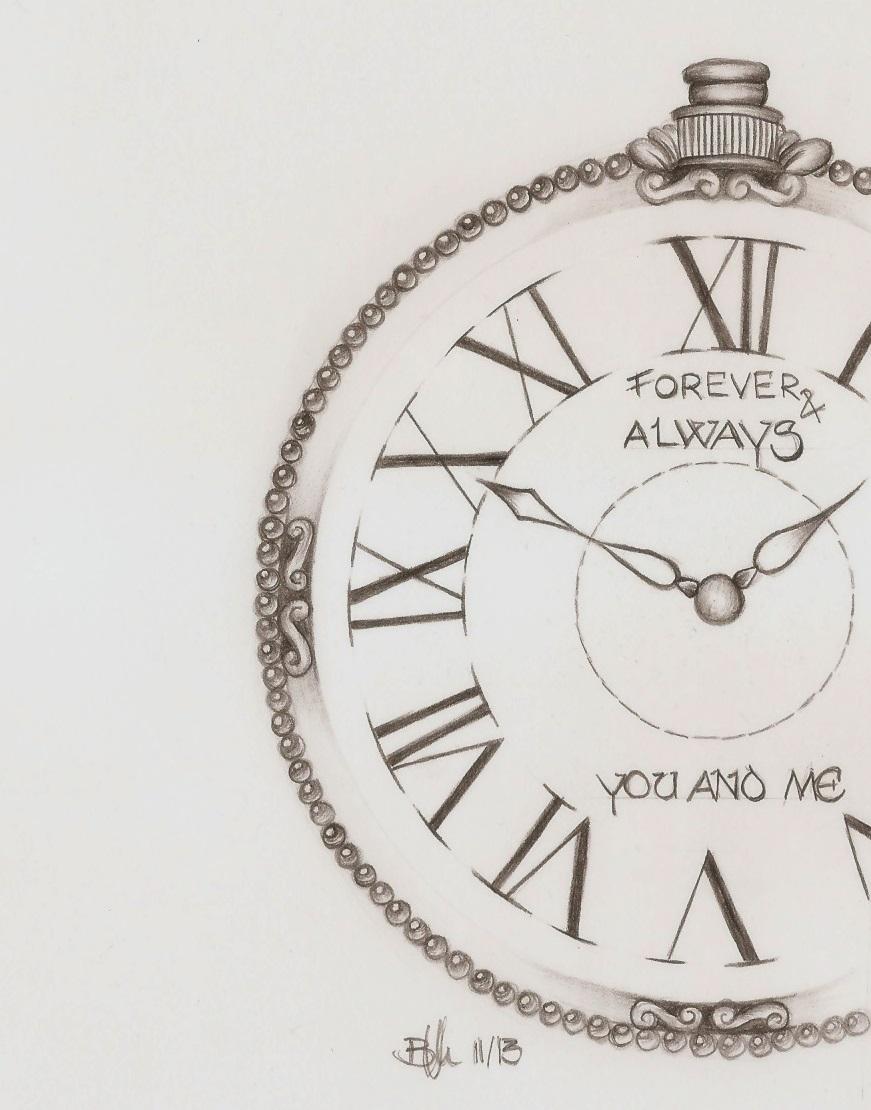 Taschenuhr bleistiftzeichnung  Bild: Zeit, Uhr, Taschenuhr, Liebe von biianka bei KunstNet