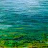 Grün, Doubs, Fluss, Malerei