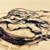 Stein, Kohlezeichnung, Landschaft, Zeichnungen