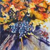 Weinrebe, Weinstock, Herbst, Malerei
