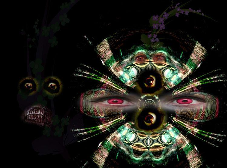 Fremde, Nacht, Outsider art, Strangers, Digitale kunst, Digital