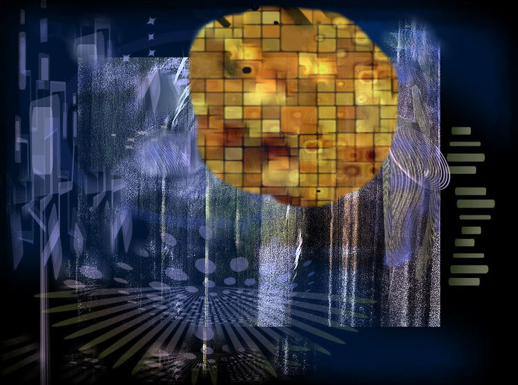 Vollmond, Outsider art, Mond, Digitale kunst, Digital, Kurz