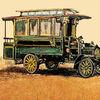 NAG-Bus von 1903 - Bus, autobus, Omnibus, Nag, art brut, art brut digital
