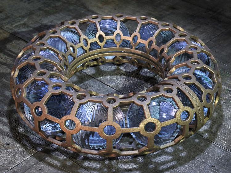 Kristall, Gold, Muster, Gitterwerk, Glanz, Perlen
