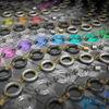 Gegenstände, Ring, Farbglas, Silber