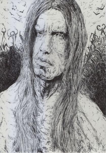 Portrait, Schwert, Fantasie, Karikatur, Conan, Film