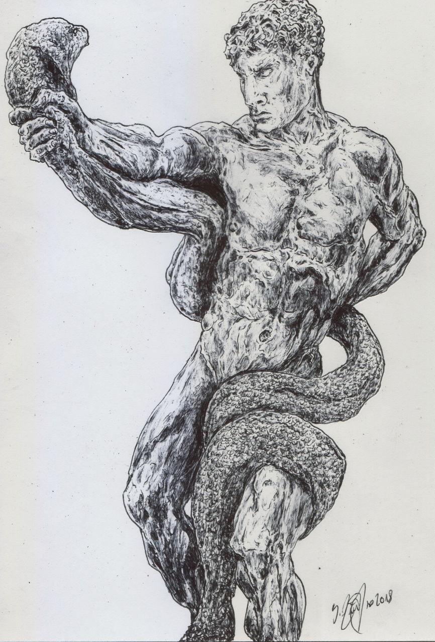 Bild: Götter, Schlange, Muskulatur, Anatomie von Ganglion bei KunstNet