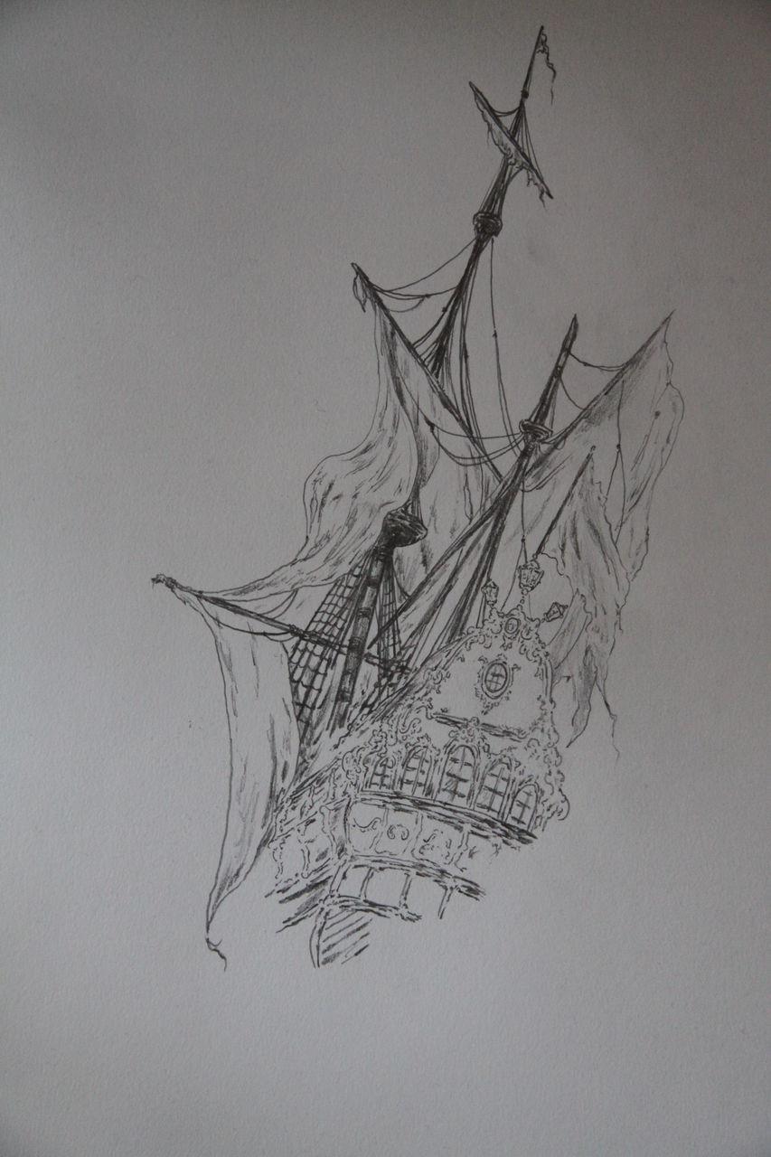 Segelschiff bleistiftzeichnung  Schffsfriedhof...der Anfang eines Bildes - Schiffsfriedhof, Romantik ...