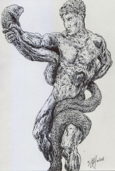 Schlange, Rom, Muskulatur, Akt, Antike, Gott