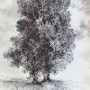 Landschaft, Baum, Acker, Threes