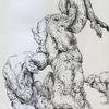 Kugelschreiber, Muskulatur, Akt, Anatomie