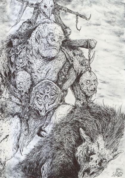 Dämon, Varg, Dunkel, Fell, Herr der ringe, Hobbit