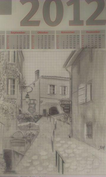 Gasse, Zeichnungen