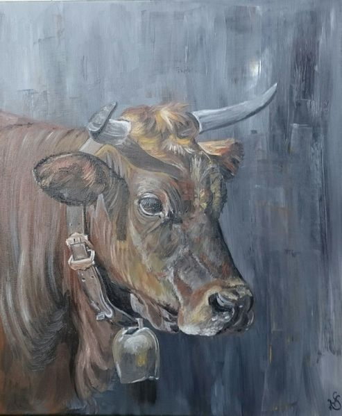 Rind, Kuh, Horn, Kalb, Malerei