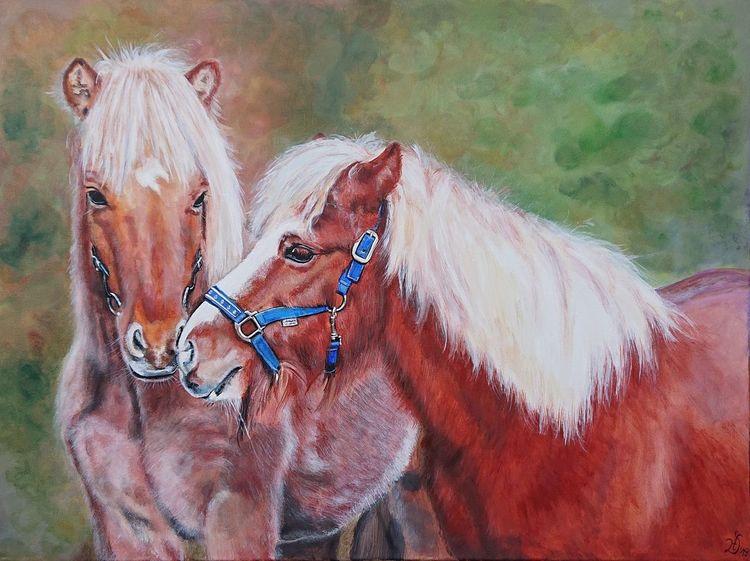 Pony, Pferde, Malerei