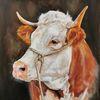 Horn, Bauernhof, Kuh, Malerei