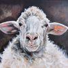 Schafbild, Bauernhoftiere, Schaf, Malerei