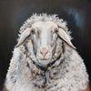 Schafbild, Portrait, Schaf, Malerei
