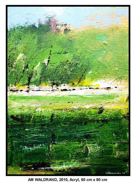 Gemälde, Busch, Laub, Wandbilder, Deutschland, Sommer