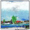 Wasser, Häuser, Landschaft, Landschaftsmalerei