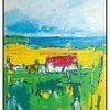 Gelb, Weiß, Schatten, Acrylmalerei
